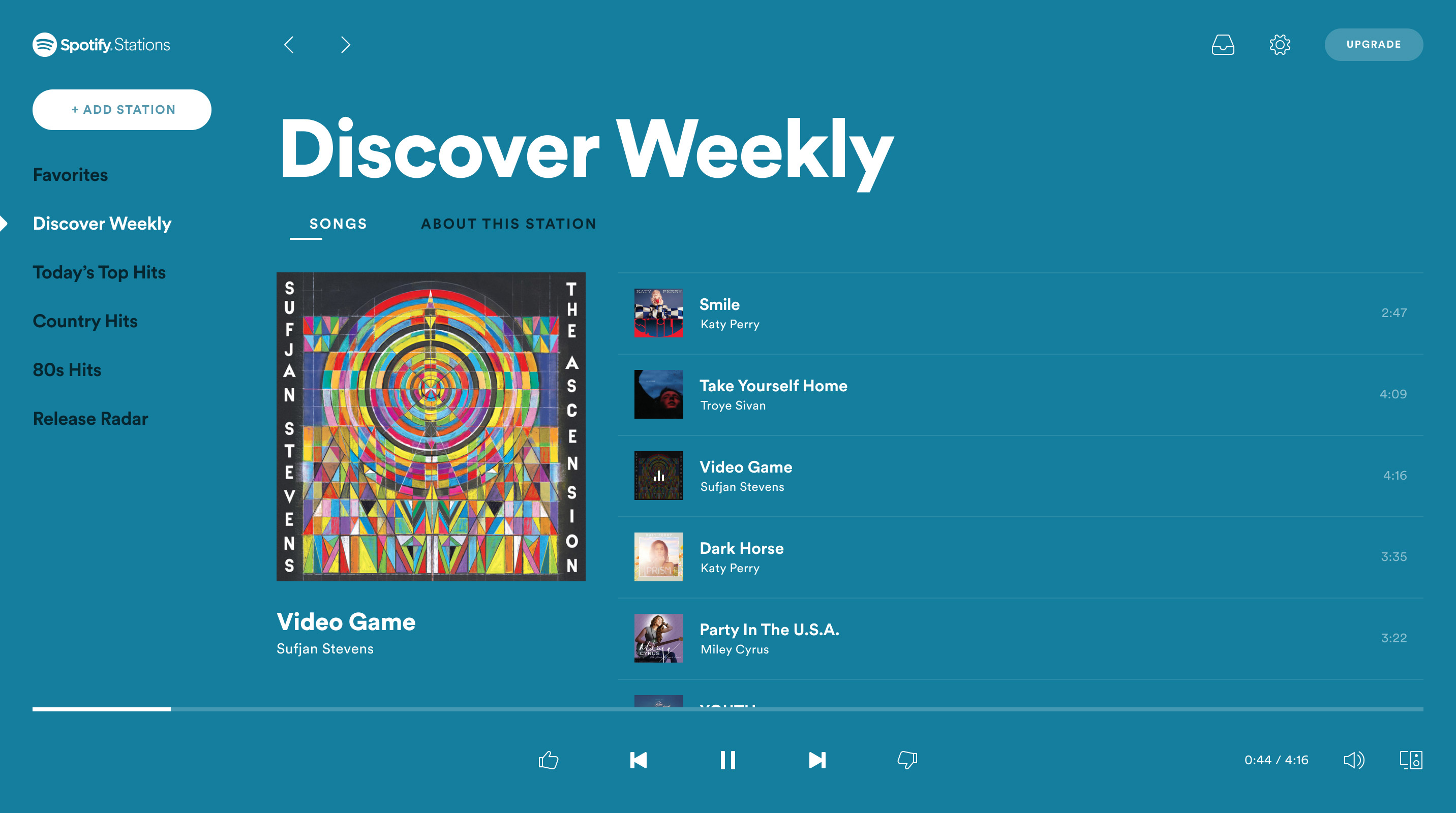 Get the full Stations experience on a bigger screen with the Web Player.